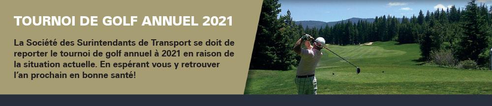 Tournoi de golf 2020 remis en 2021