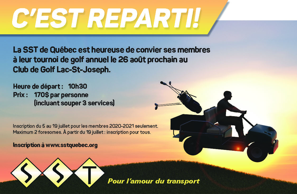 Cliquez ici pour réserver votre place au Golf 2021 de la SST de Québec
