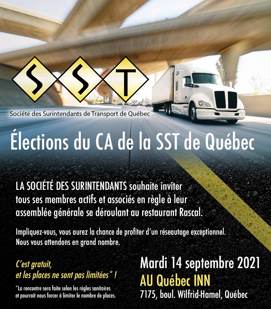 Cliquez ici pour réserver votre place à l'AGA  pour l'élections du CA de la SST de Québec
